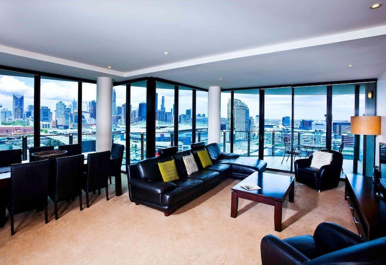 The Sebel Residences Melbourne Docklands, Docklands, Apartamento, 3 quartos, Sacada, Vista (Water View), Quarto