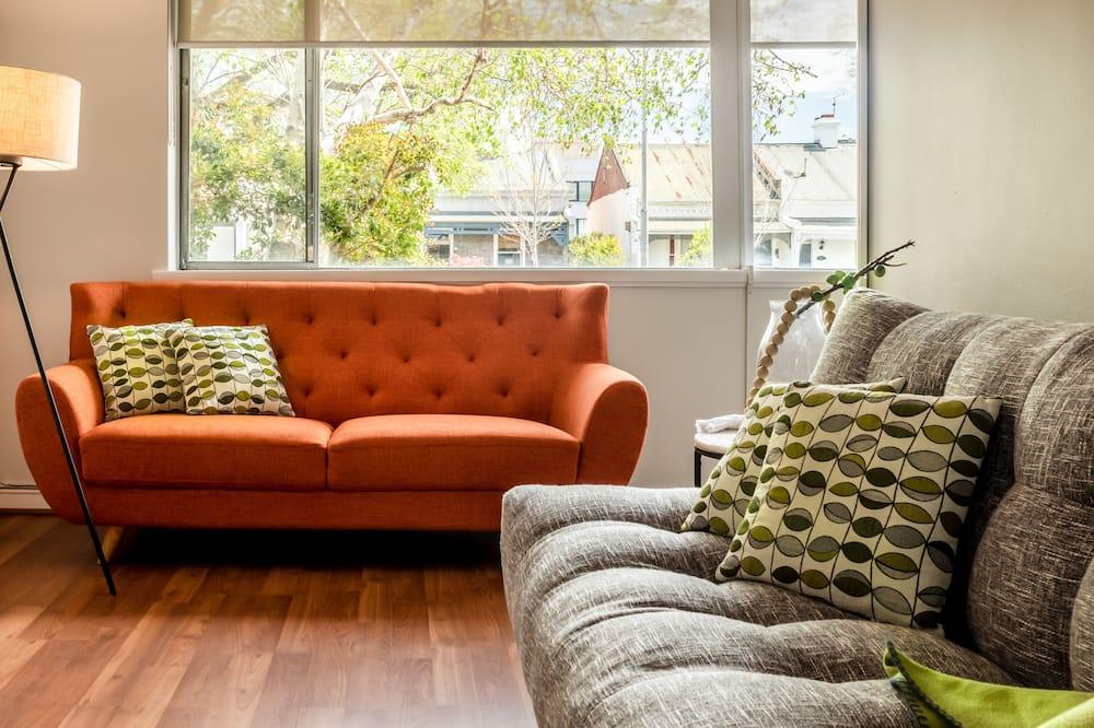 Superior-lejlighed - 1 queensize-seng med sovesofa - Opholdsområde