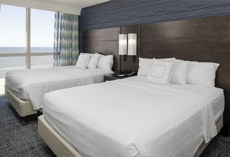 Fairfield Inn & Suites by Marriott Virginia Beach Oceanfront, Virginia Beach, Quarto, 2 camas de casal, Varanda, Junto ao Mar, Quarto