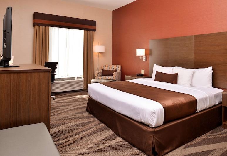 貝斯特韋斯特普勒斯大學飯店, 奧利安, 標準客房, 1 張特大雙人床, 非吸煙房, 冰箱和微波爐, 客房