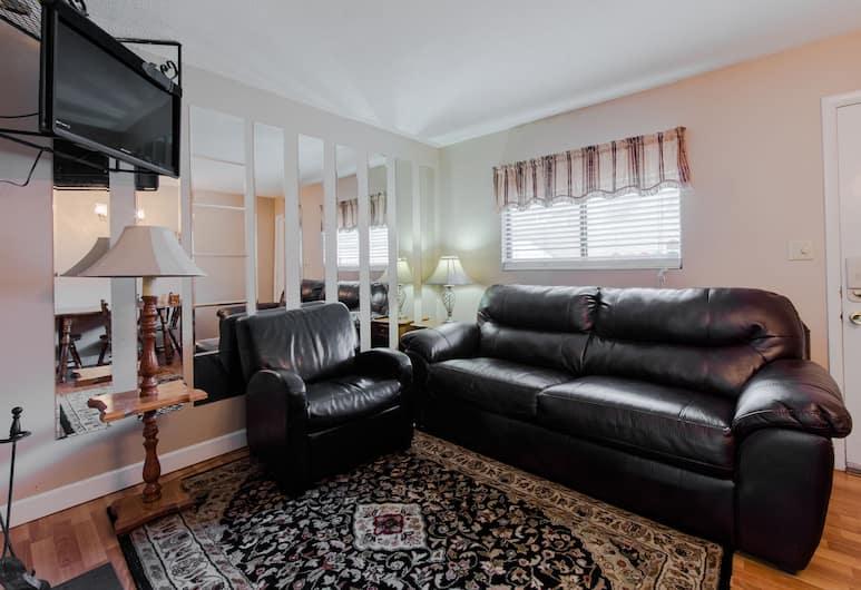 橡樹廣場公寓酒店, 加特林堡, 經濟套房, 1 張加大雙人床, 客廳