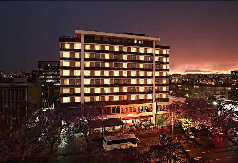 Arcadia Hotel, Pretoria, Hotel Front – Evening/Night