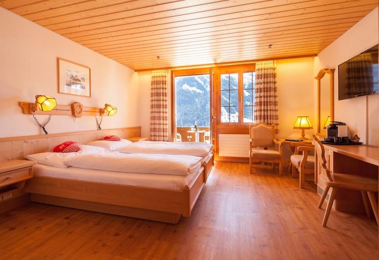 ホテル アルペンホフ, グリンデルヴァルト, スタンダード ツインルーム バルコニー マウンテンビュー, 部屋
