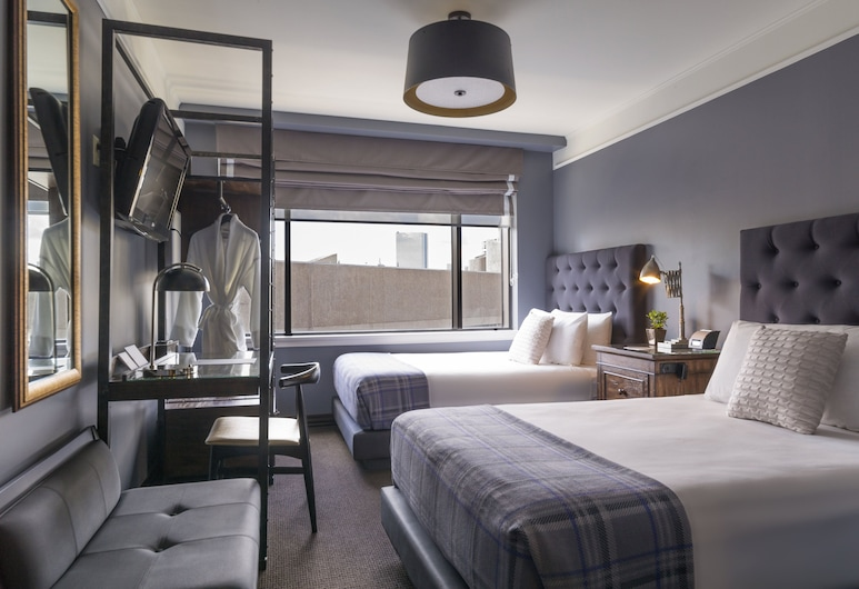 The Boxer, Boston, Deluxe Double Room, 2 Double Beds, Guest Room