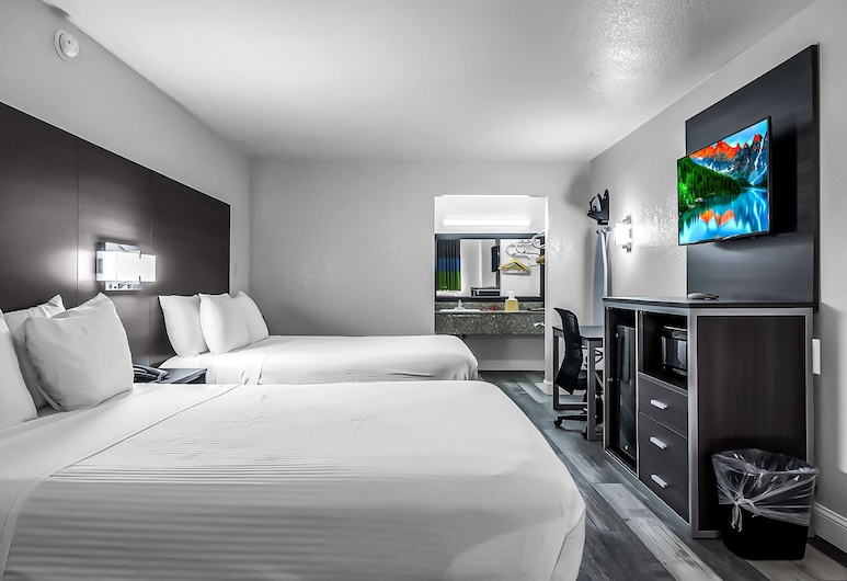 SureStay Hotel by Best Western Oklahoma City West, Oklahoma City, Standard Room, 2 Queen Beds, Non Smoking, Refrigerator & Microwave, Guest Room