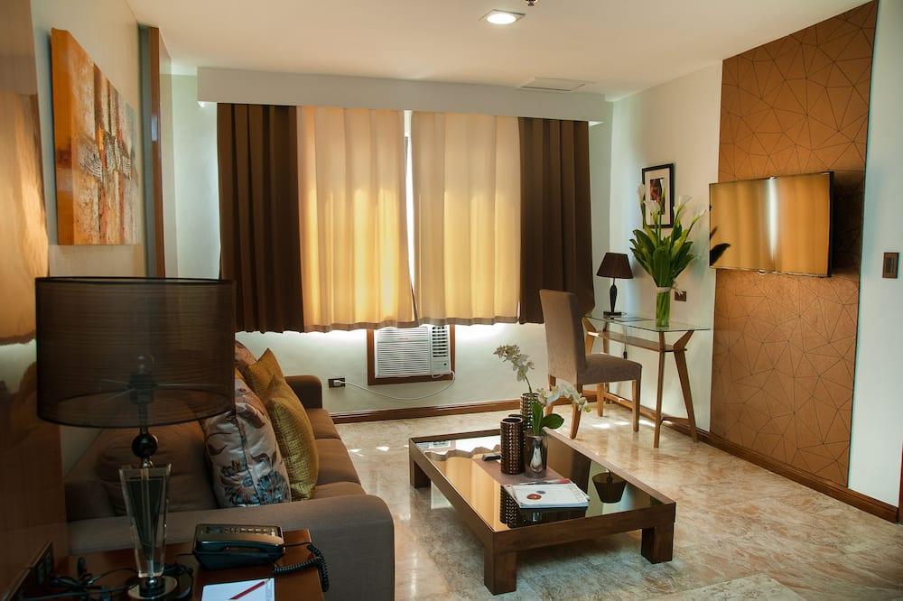جناح عادي - غرفة نوم واحدة - لغير المدخنين - منطقة المعيشة