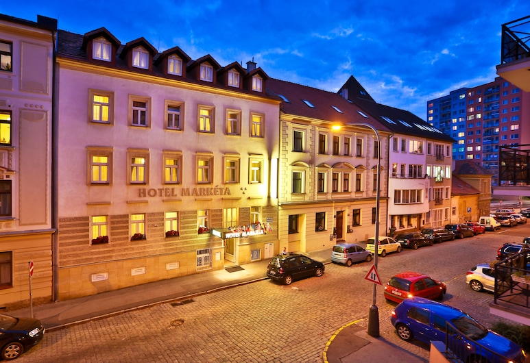 Hotel Marketa, Prague, Hotel Front – Evening/Night