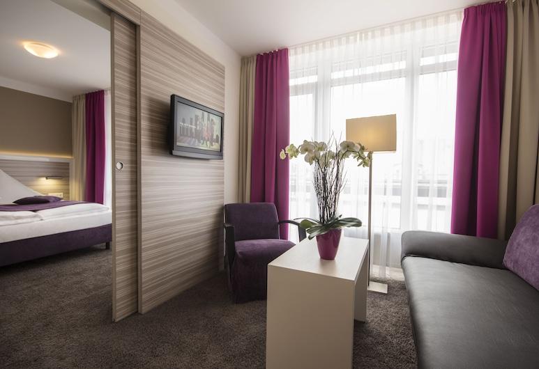 ホテル ミラベル、マイアー プリバートホテルズ, ミュンヘン, スイート, リビング ルーム