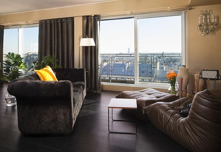 Hôtel Le Chat Noir, Pariis, Sviit (Prestige), Lõõgastumisala