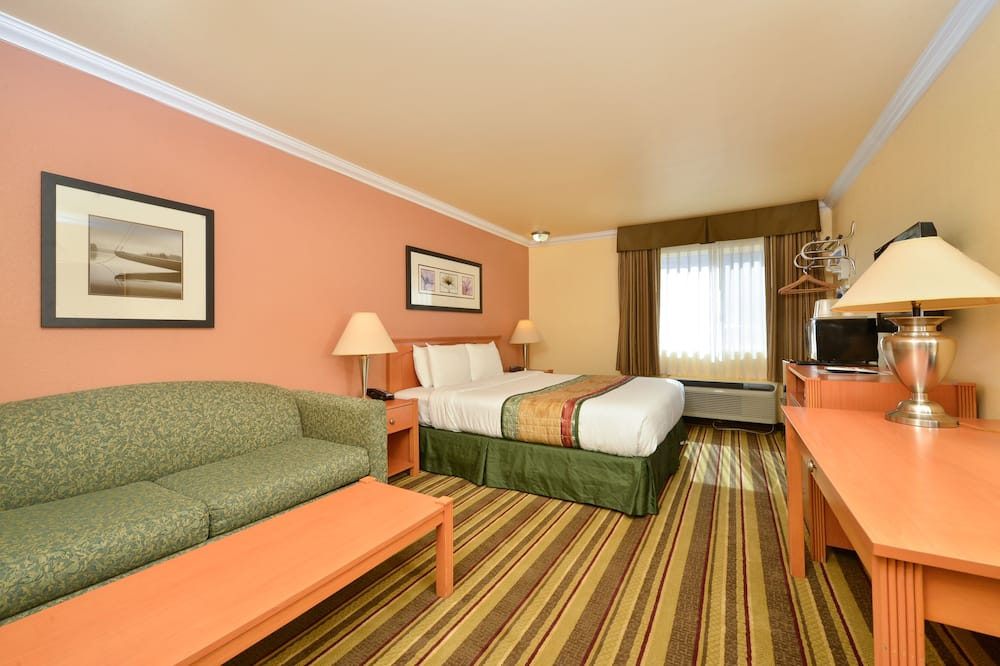 Deluxe Room, 1 King Bed, Non Smoking - Living Area