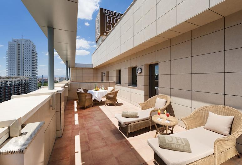 Hotel Valencia Center, Valencia, Deluxe-Zimmer, Terrasse, Zimmer