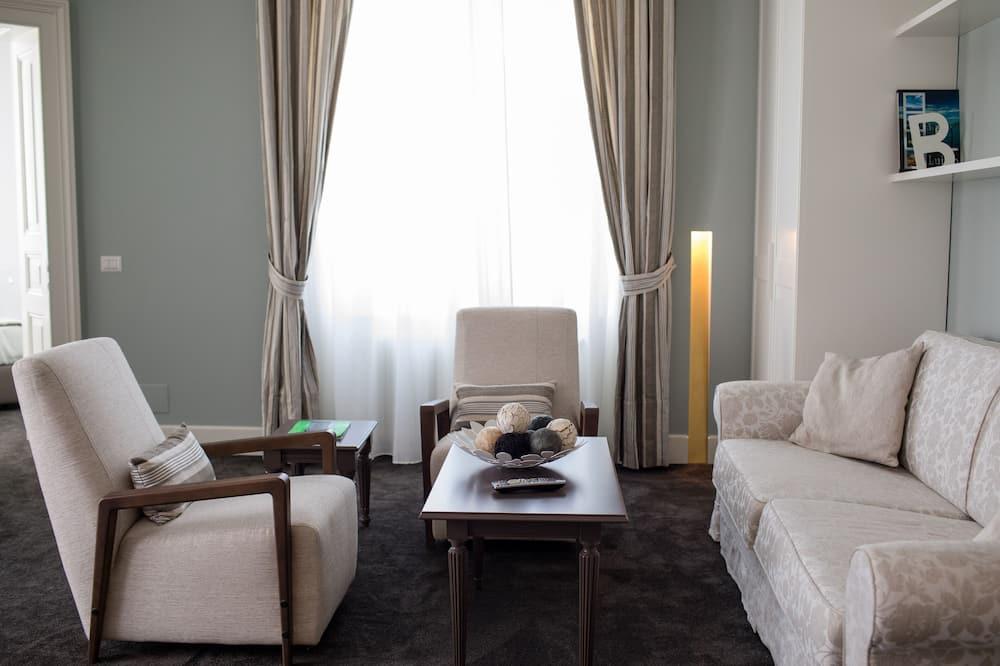Suite de lujo, vista al lago - Sala de estar