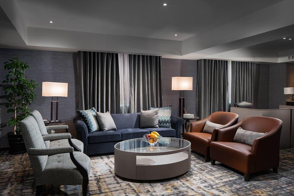 Prezidenta luksusa numurs, 1 divguļamā karaļa gulta - Dzīvojamā zona