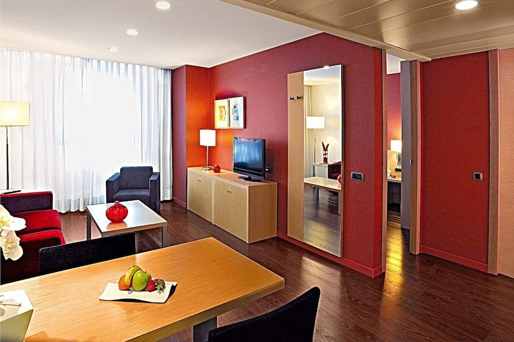 Junior-suite - 1 queensize-seng - Opholdsområde
