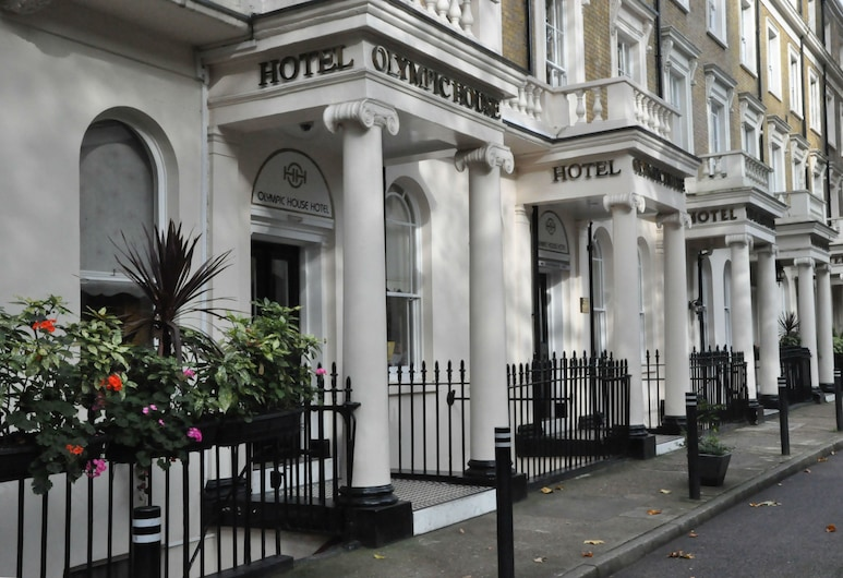 Olympic House Hotel, London, Hotellets front