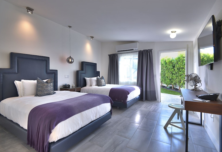 The Palm Springs Hotel, Palm Springsas, Standartinio tipo kambarys, 2 standartinės dvigulės lovos, Svečių kambarys