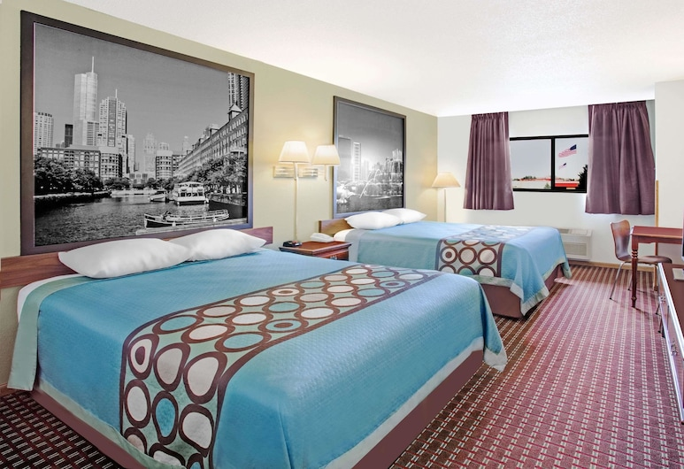 Super 8 by Wyndham Princeton, Princeton, Room, 2 Queen Beds, Non Smoking, Guest Room