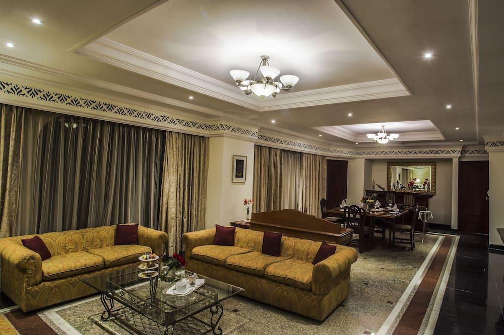 Presidential Suite, 1 Bedroom, Garden View - Living Area