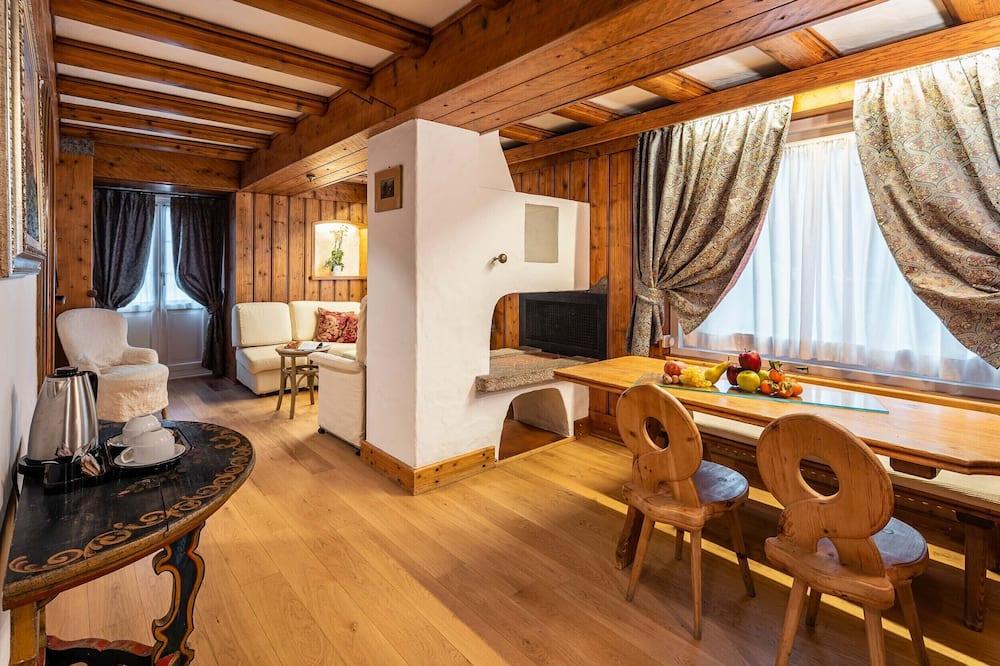 Suite - 2 soveværelser - terrasse - bjergudsigt - Opholdsområde