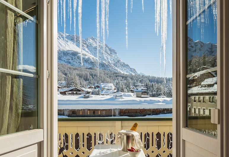 Parc Hotel Victoria, Cortina d'Ampezzo, Deluxe tweepersoonskamer, Terras