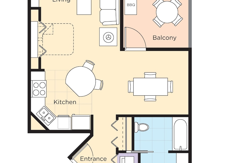 WorldMark Pinetop, Pinetop, Lakás, 1 hálószobával, konyha, Vendégszoba