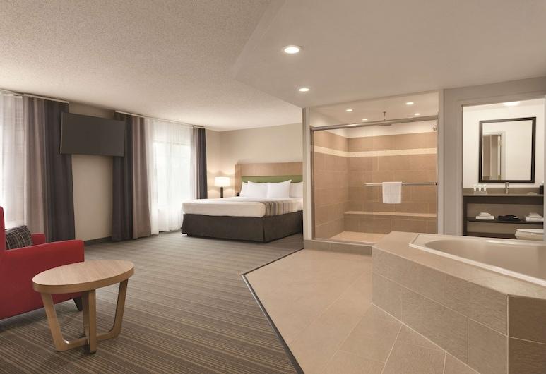 Country Inn & Suites by Radisson, Raleigh-Durham Airport, NC, Morrisville, Suite estudio, 1 cama Queen size, con acceso para silla de ruedas (Roll-in Shower), Habitación