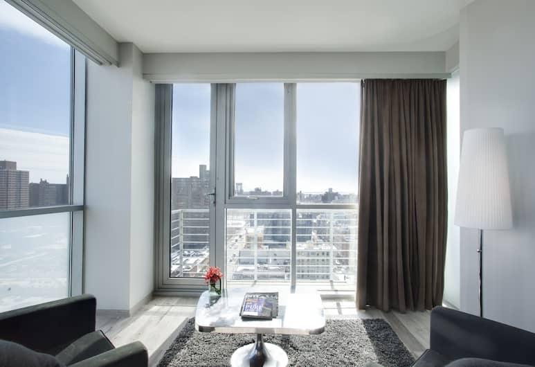 Hotel On Rivington, New York, Hoekkamer met balkon op hoge verdieping, Woonruimte