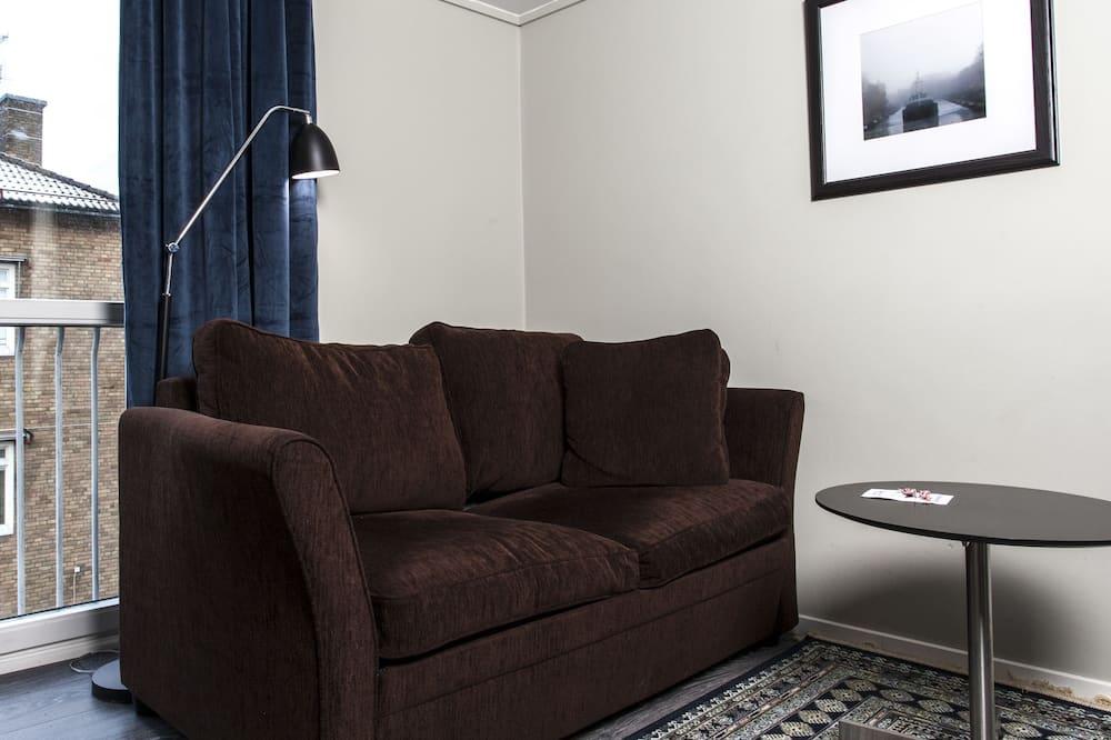 Familieværelse - 1 dobbeltseng - ikke-ryger - Opholdsområde