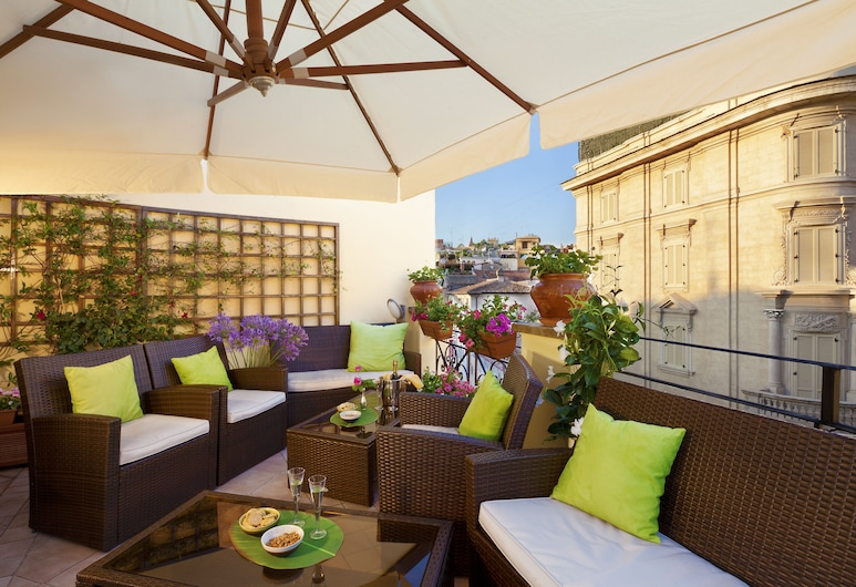 Hotel La Fenice, Rom, Terrasse/patio