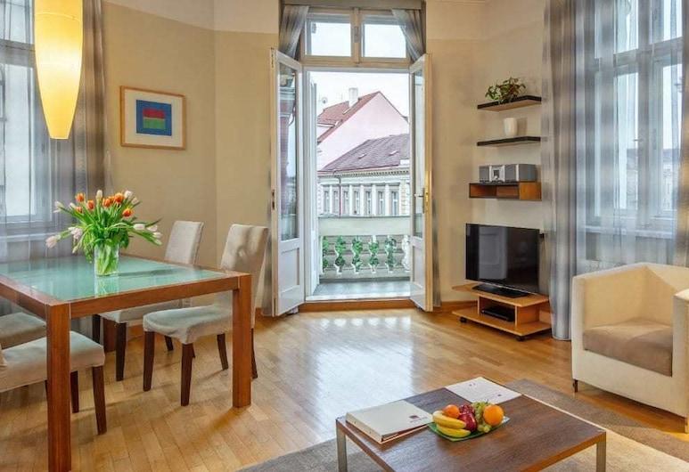 Mamaison Residence Belgicka, Praga, Suíte luxo, 1 quarto, Quarto