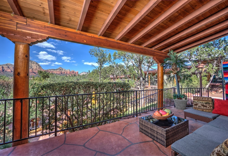 A Sunset Chateau, Sedona, Deluxe-Suite, 1 Schlafzimmer, Bergblick, Terrasse/Patio