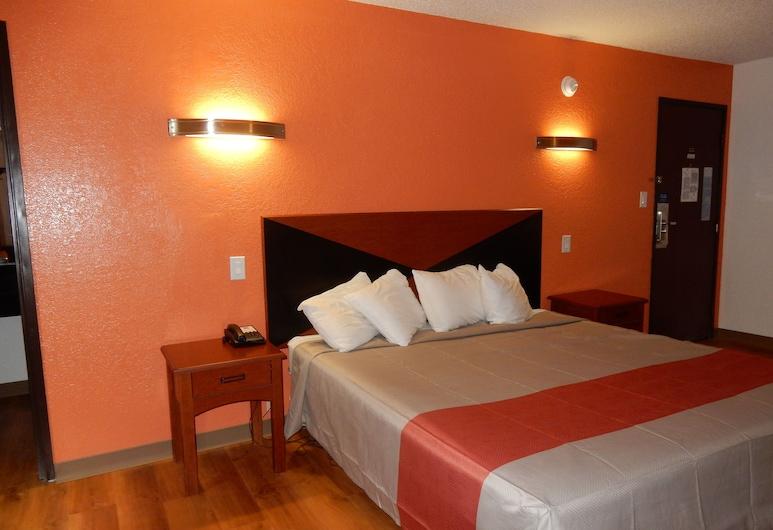 Ashley Inn, Ponca City, Standardzimmer, 1King-Bett, barrierefrei, Kühlschrank und Mikrowelle, Zimmer
