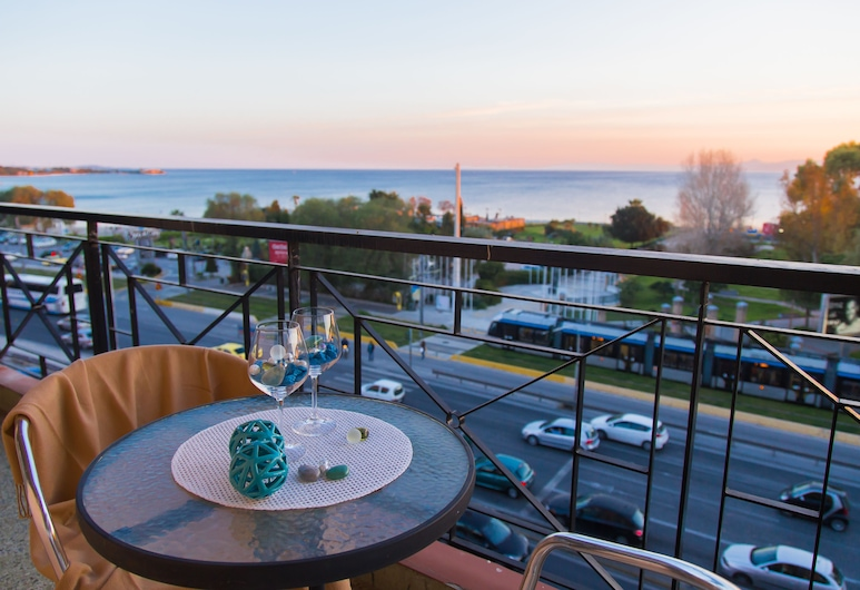 Galaxy Hotel, Alimos, Double or Twin Room, Sea View, Terrace/Patio