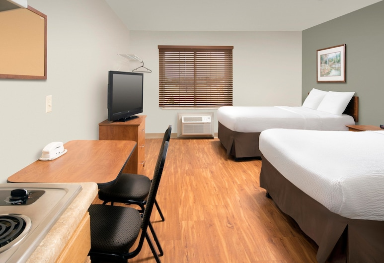 WoodSpring Suites Wichita North, Wichita, Studio – standard, 2 dobbeltsenger, kjøkken, Gjesterom