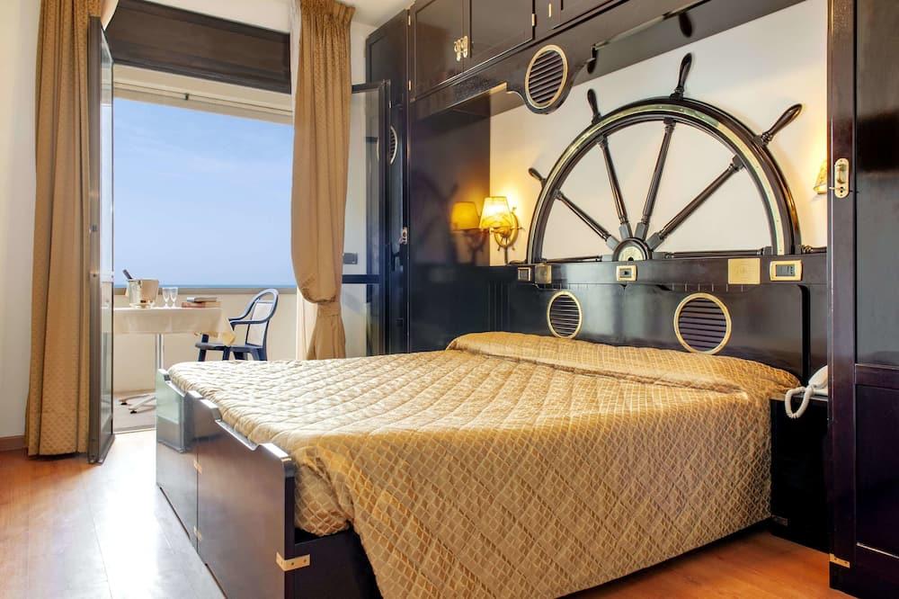 Chambre Double Supérieure, balcon, vue mer - Vue sur la plage/la mer