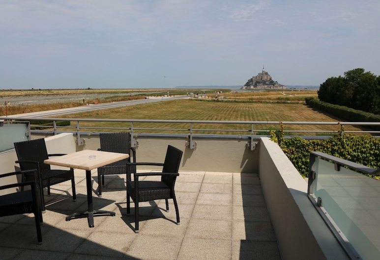 Le Relais Saint Michel, Le Mont-Saint-Michel, Superior-Doppel- oder -Zweibettzimmer, Balkon, Buchtblick, Ausblick vom Zimmer
