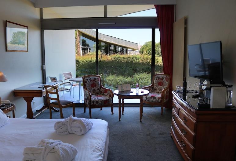 聖蜜雪兒驛站飯店, 聖米歇爾山, 雙人房, 露台, 花園景觀, 客房