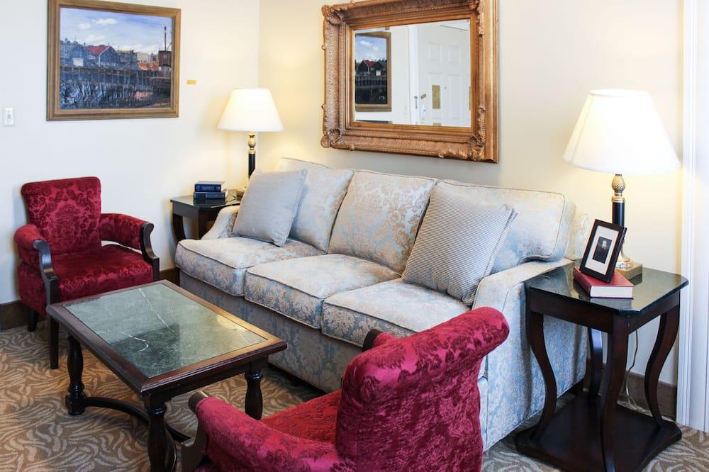 Junior suite, 2 queensize bedden - Woonruimte