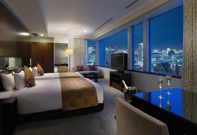 Hotel The Celestine Tokyo Shiba, Tokio, Dvojlôžková izba, nefajčiarska izba, rohová izba (Celestine, with Guest Lounge Access), Výhľad z hosťovskej izby