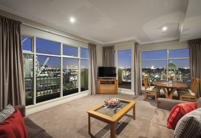Flinders Landing Apartments, Melbourne, Two Bedroom Two Bathroom Penthouse Apartment, Living Area