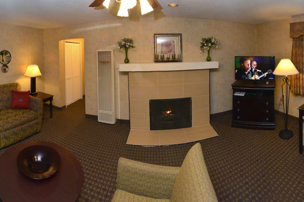 Premium Süit, 1 En Büyük (King) Boy Yatak - Oturma Odası