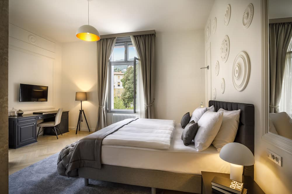 Standard-Doppel- oder -Zweibettzimmer - Blick auf die Straße