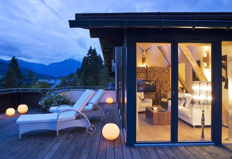 落葉松天然 SPA 酒店, 錫菲爾德因提羅, 套房, 1 間臥室, 山景, 山旁, 陽台