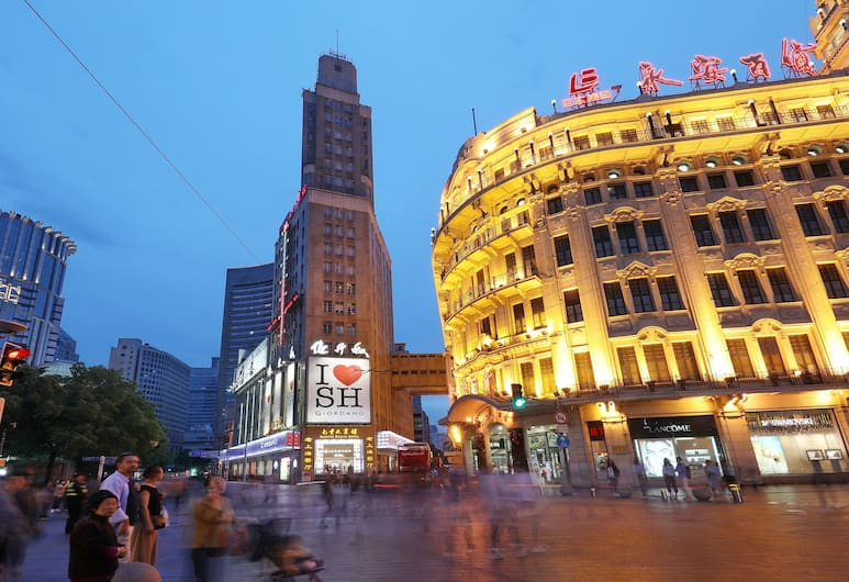 Seventh Heaven Hotel, Shanghai, Hotel Front – Evening/Night