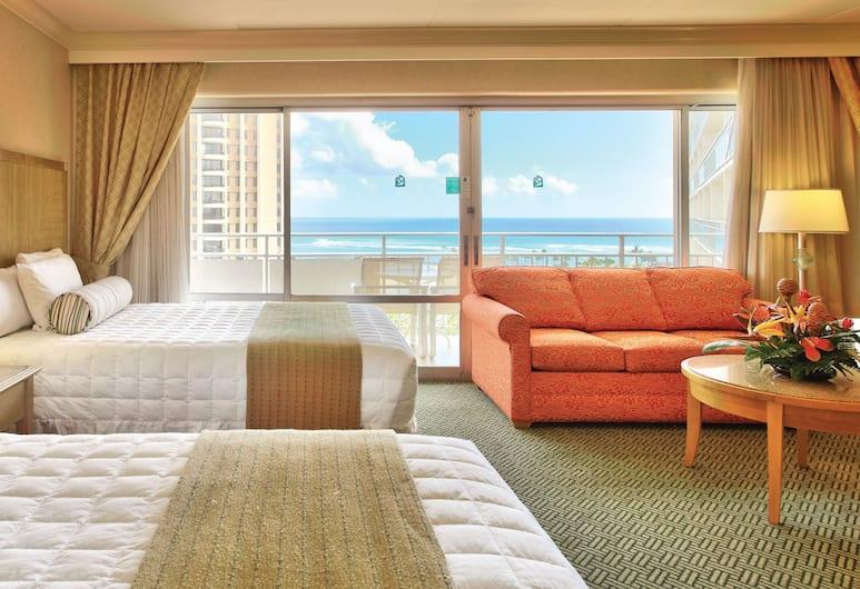 Waikiki Marina Resort at the Ilikai, Honolulu, Studio City View Two Full Beds, Pokój