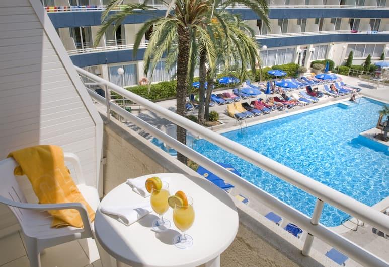 Hotel GHT Aquarium & Spa, Lloret de Mar, Kamar Single Standar, Balkon