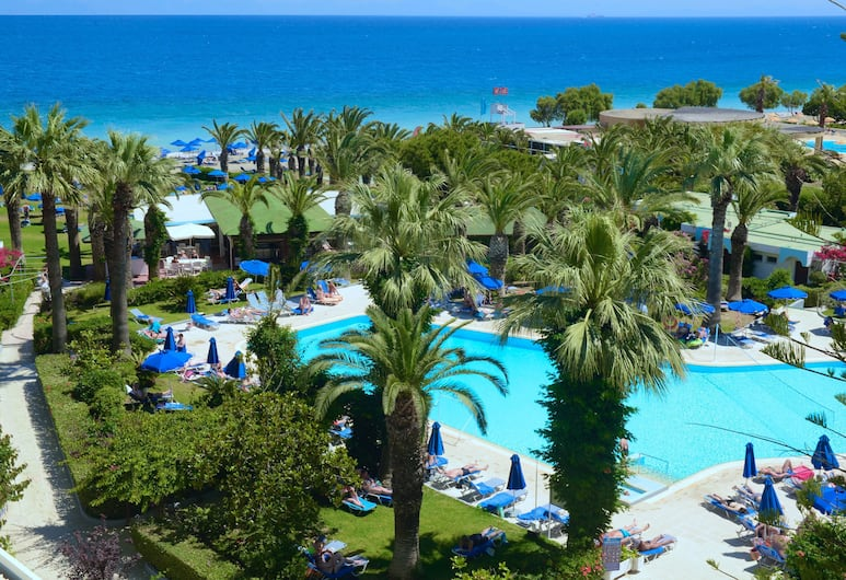 Blue Horizon Hotel, Rodosz, Szoba kétszemélyes vagy két külön ággyal, kilátással a tengerre, Kilátás a kertre