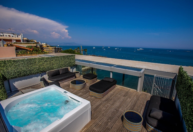 Royal Antibes - Luxury Hotel, Residence, Beach & SPA, Αντίμπ, Royal Σουίτα, Βεράντα, Θέα στη Θάλασσα (Design), Αίθριο/βεράντα
