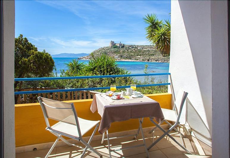 Hotel Ristorante Calamosca, Cagliari, Deluxe-Doppelzimmer, Meerblick, Balkon