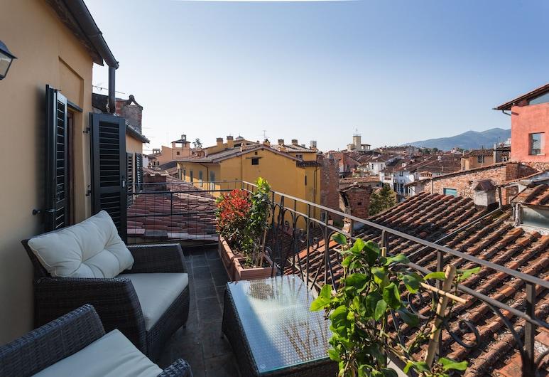 Palazzo Alexander Hotel, Lucca, Apartmá s ložnicí a obývacím koutem, Terasa